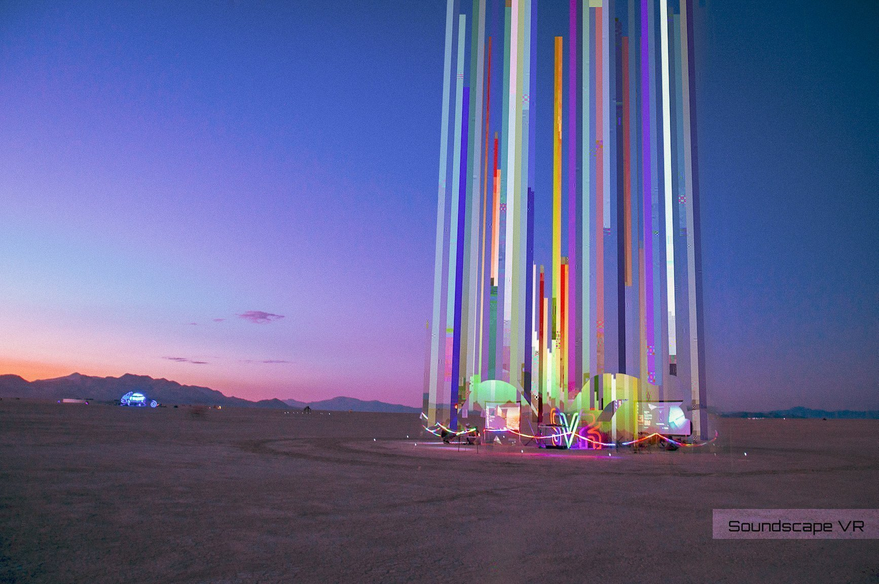 Soundscape VR at Burning Man at sunset